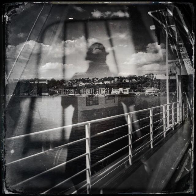 """""""The tourist by Jean-François Dupuis"""" stock image"""