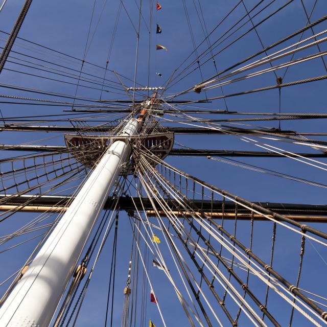 """The mast"" stock image"