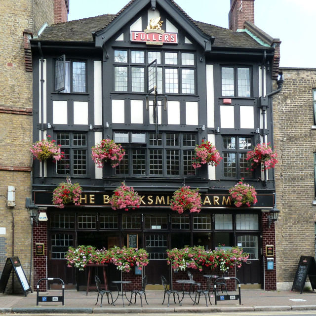 """The Blacksmiths Arms ,Rotherhithe St."" stock image"