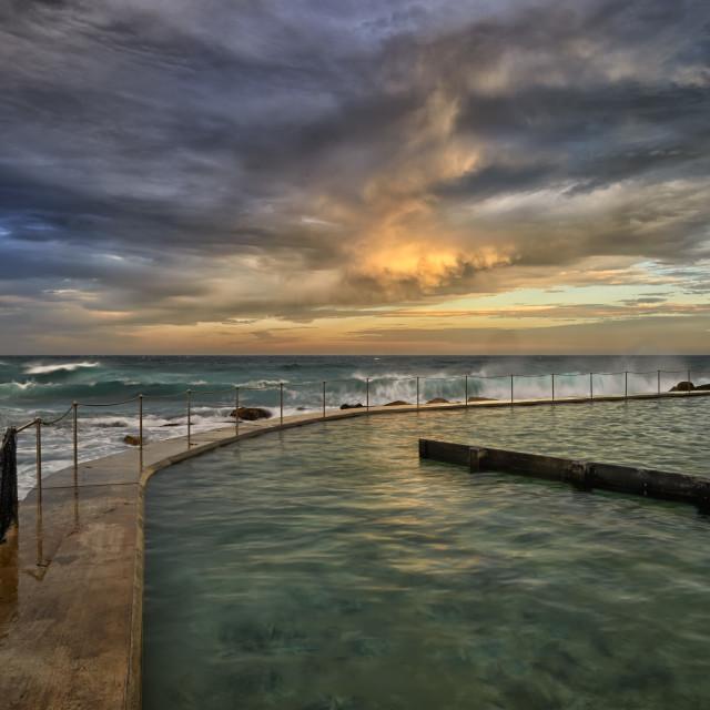 """""""Sun set seascape."""" stock image"""