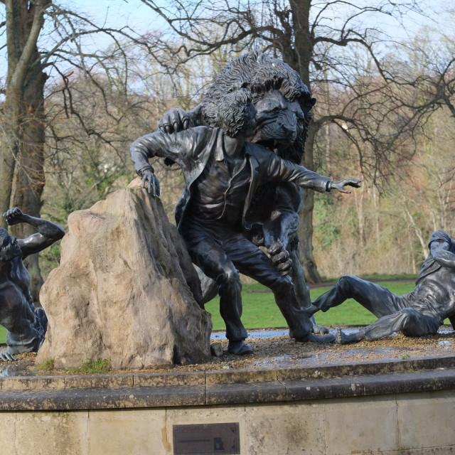 """Statue to David Livingstone"" stock image"