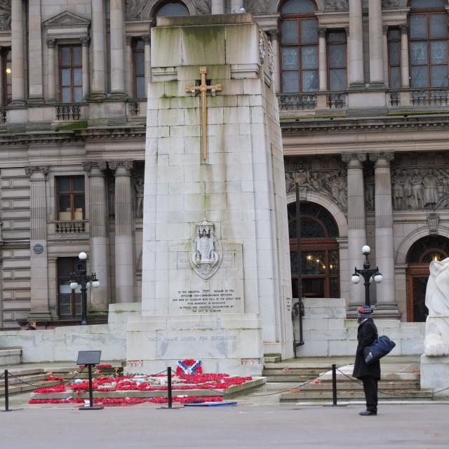 """War Memorial, Glasgow"" stock image"