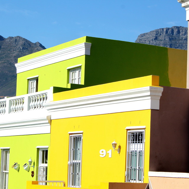 """Colourful Cape Town"" stock image"