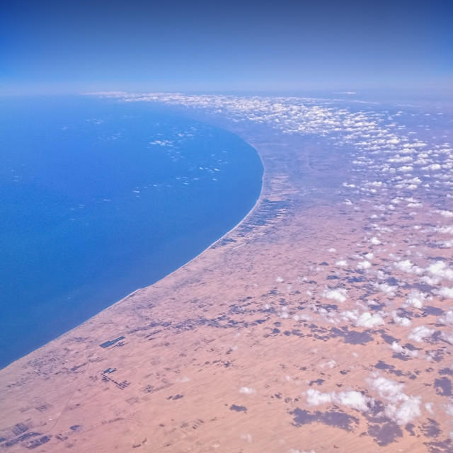 """Gaza Strip looking north from Egypt"" stock image"