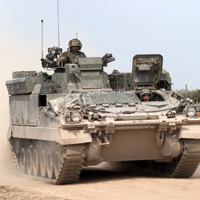 """FV512 Warrior Mechanised Repair Vehicle"" stock image"