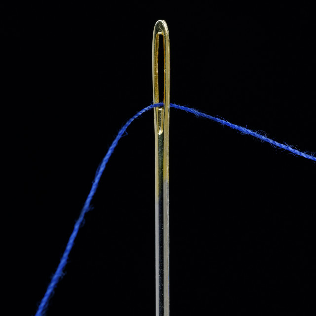 """Sewing Needle Closeup"" stock image"
