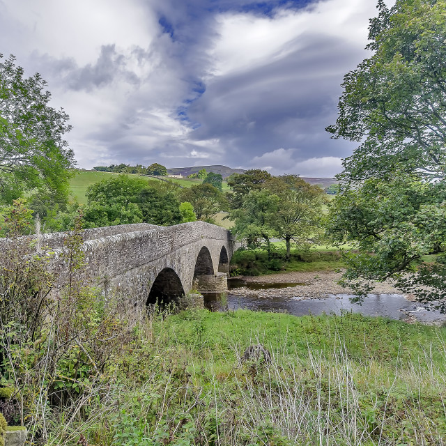 """Swaledale Packhorse Bridge"" stock image"