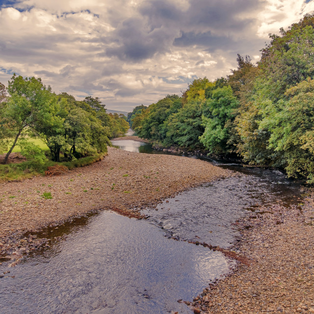 """River Swale in Autumn"" stock image"