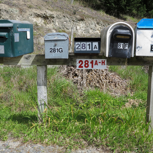 """""""mail boxes"""" stock image"""
