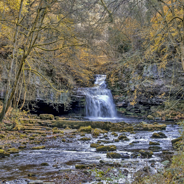 """West Burton Waterfalls"" stock image"