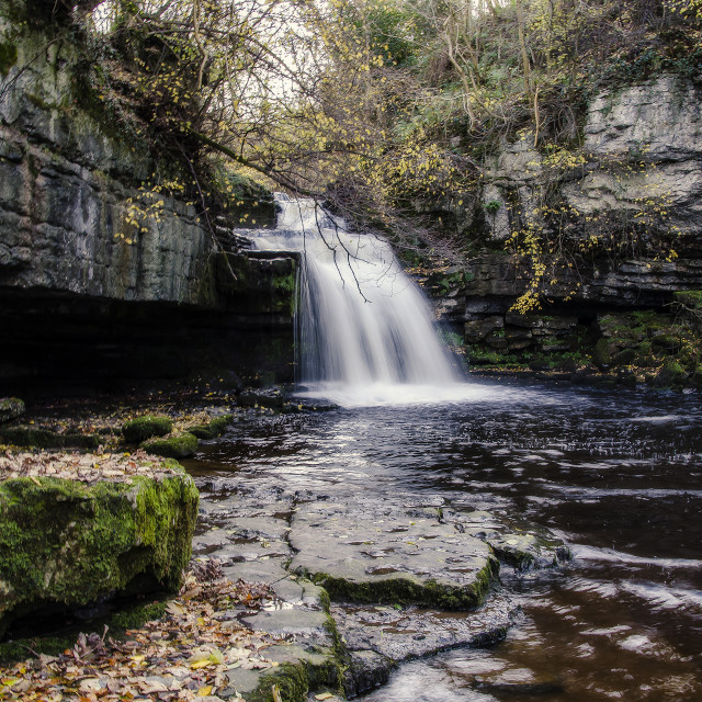 """West Burton Falls"" stock image"