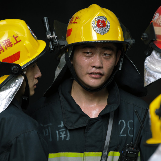 """Chinese Firefighters"" stock image"