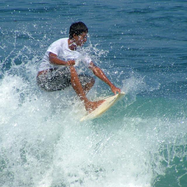 """bali surfing"" stock image"