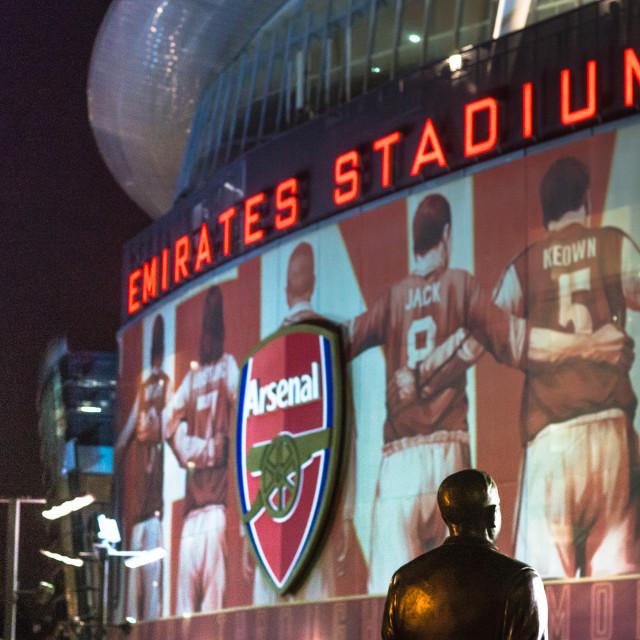"""Emirates Stadium"" stock image"