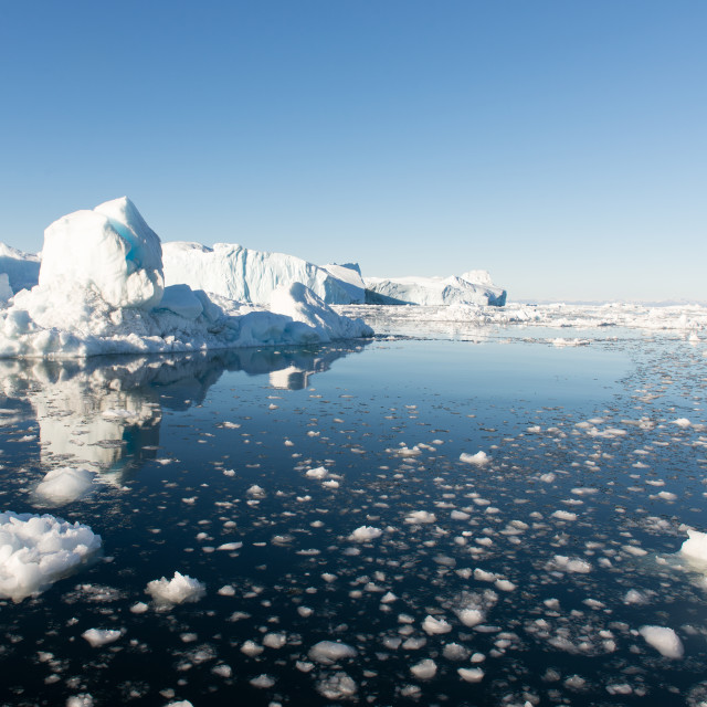 """Icebergs in Greenland"" stock image"