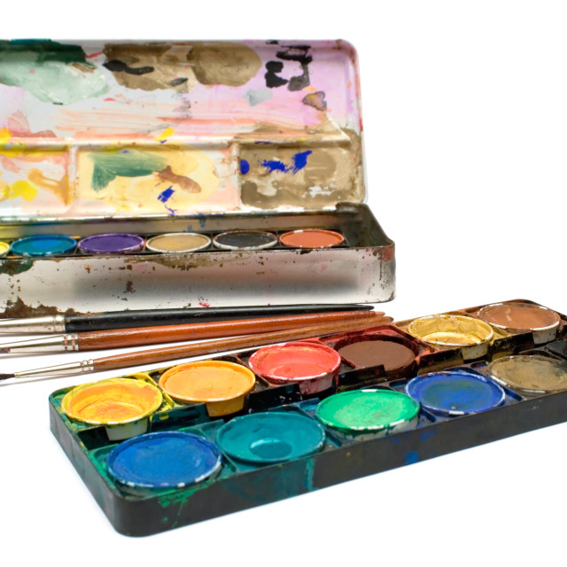 """Watercolors Set"" stock image"