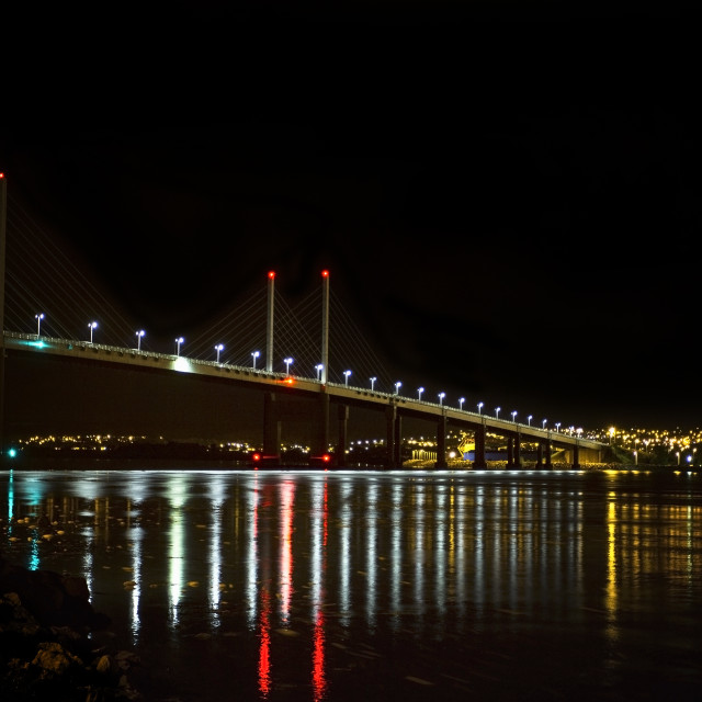 """Kessock Bridge at Night"" stock image"
