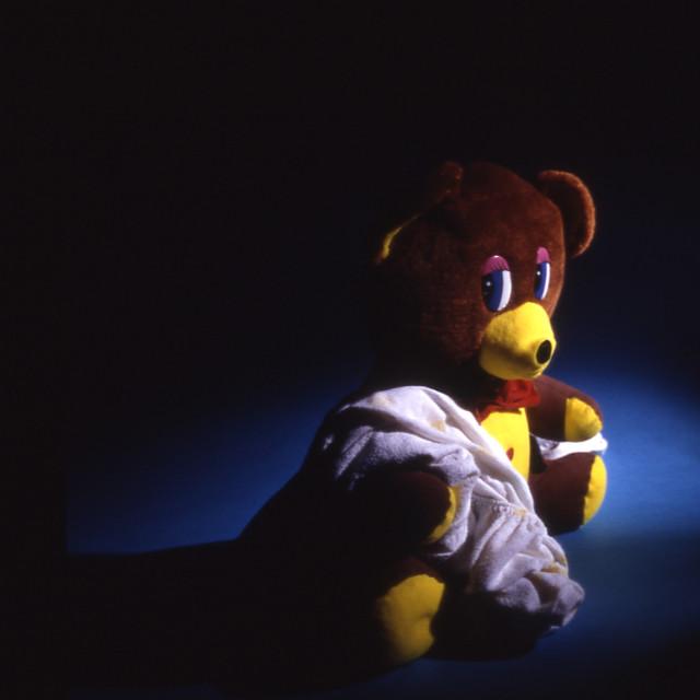 """""""Broken hearted Teddy"""" stock image"""