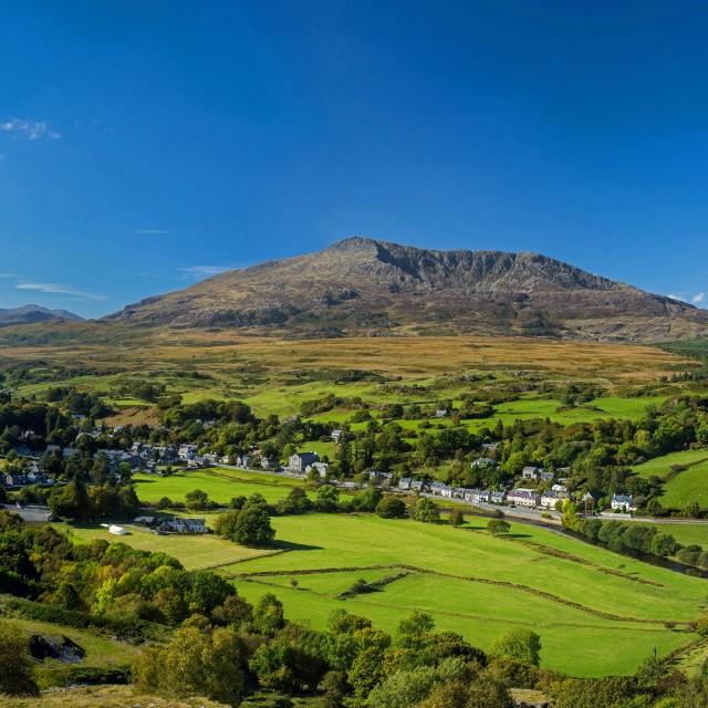 """Snowdonia Village"" stock image"