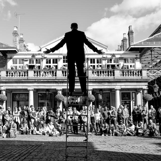 """""""Covent Garden Street Performer"""" stock image"""