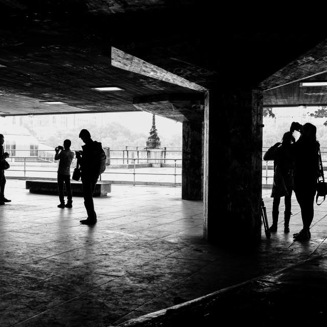 """Southbank Skate Park"" stock image"