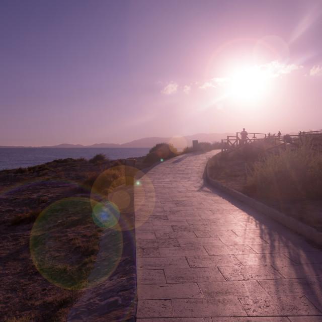 """""""Sea promenade"""" stock image"""