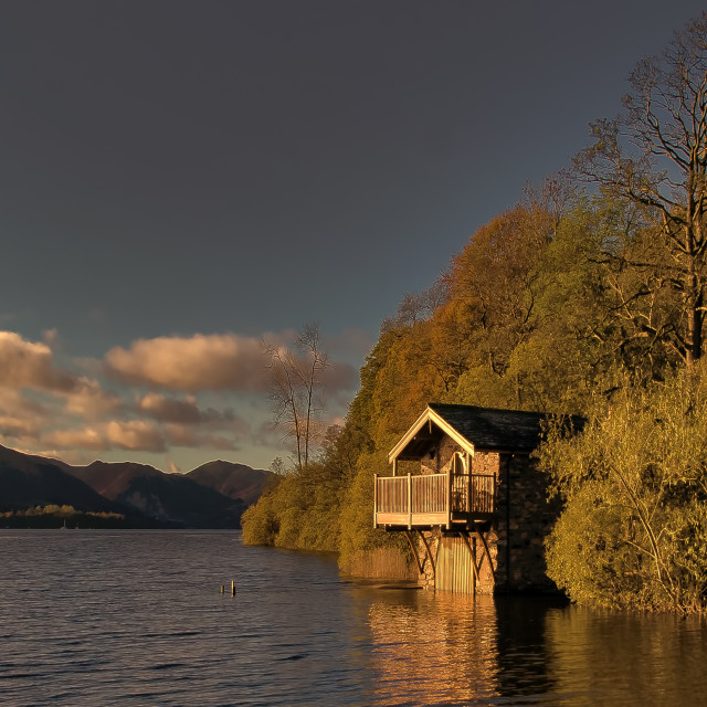 """Ullswater Sunset"" stock image"