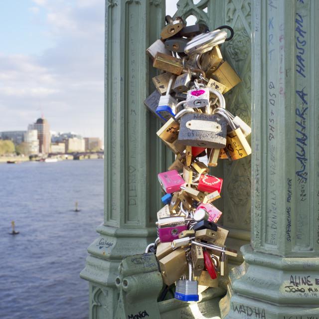 """""""Lover's Locks"""" stock image"""
