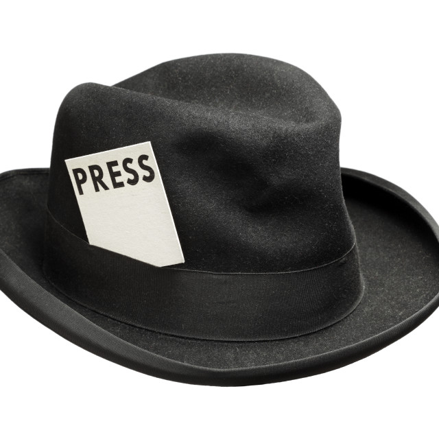 """Meet the press"" stock image"