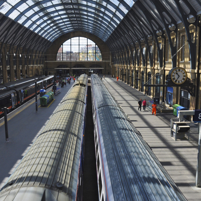"""King's Cross Station, London"" stock image"