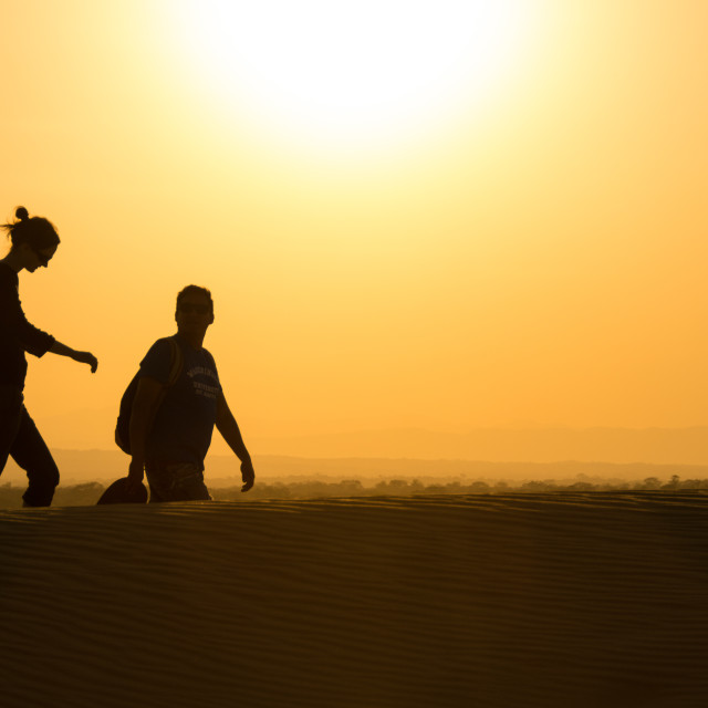 """Sunset walk"" stock image"