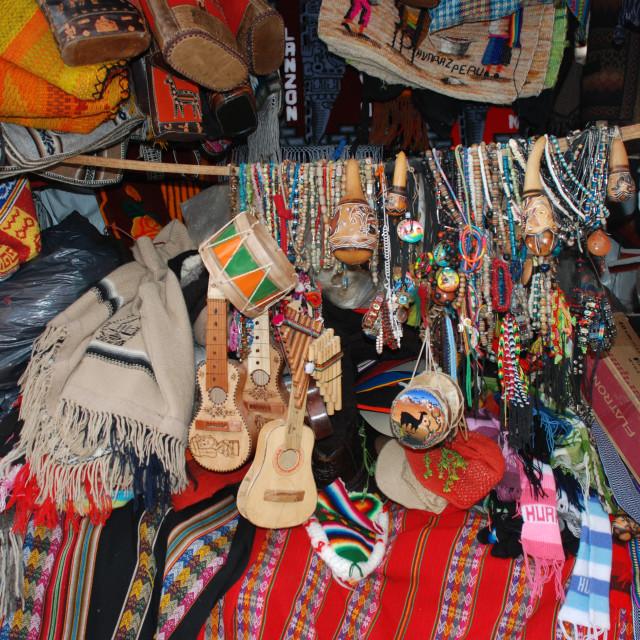 """""""Peruvian gifts"""" stock image"""