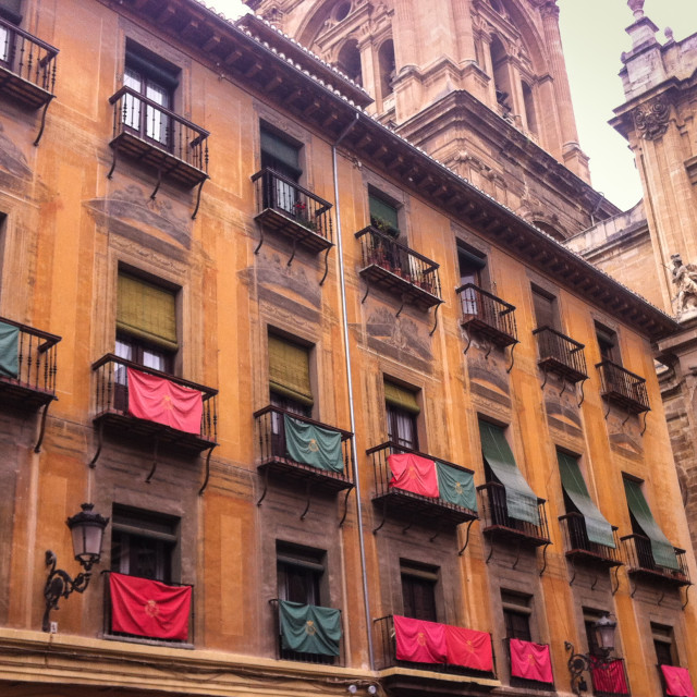 """Spanish Balconies"" stock image"