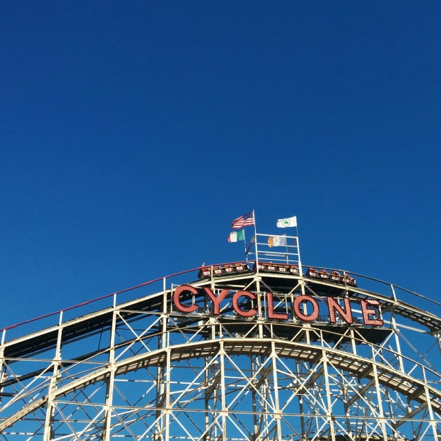 """""""Wooden Rollercoaster"""" stock image"""