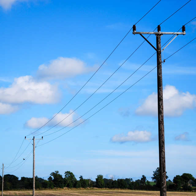 """""""Electric lines"""" stock image"""
