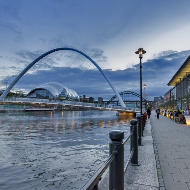"""Newcastle Quayside at Dusk"" stock image"