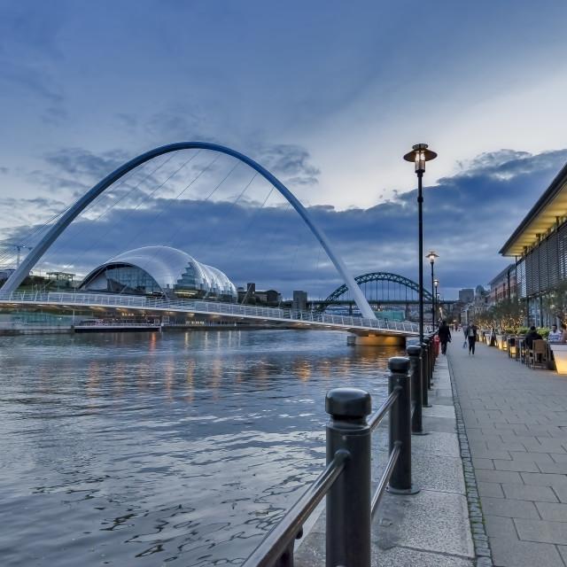 """""""Newcastle Quayside at Dusk"""" stock image"""