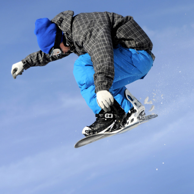 """blue snowboarder"" stock image"