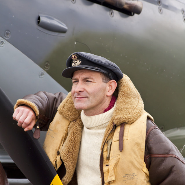 """Spitfire pilot"" stock image"