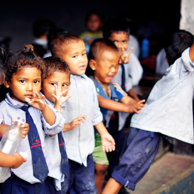 """Nepalese Children"" stock image"