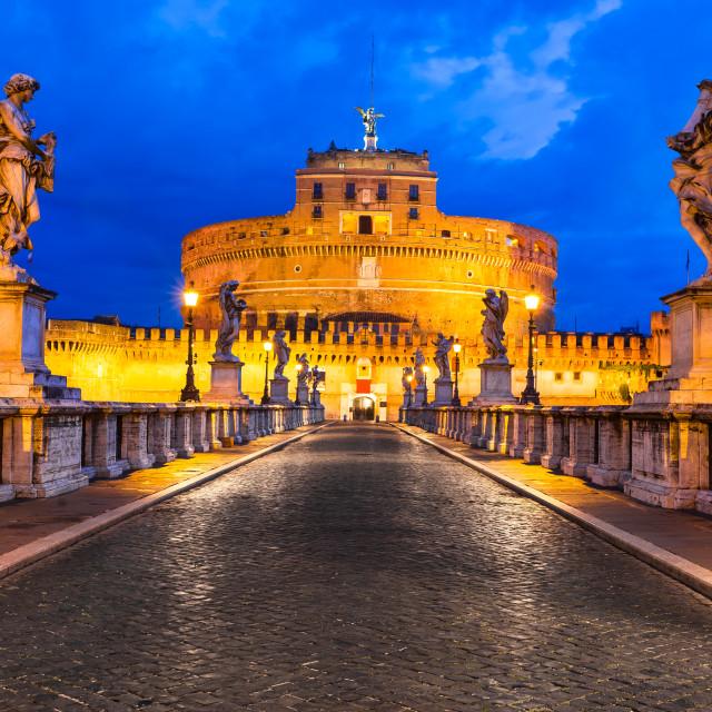 """Castle Sant Angelo, Rome"" stock image"