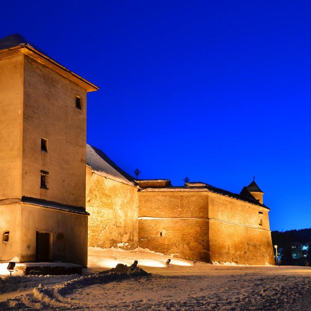 """""""Brasov Citadel, medieval fortress in Romania"""" stock image"""