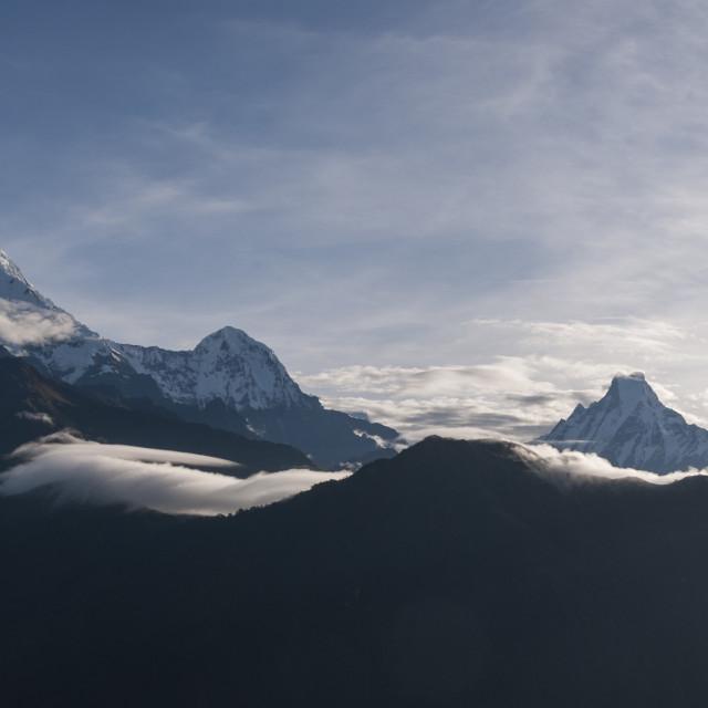 """""""Macchapuchare, Annapurna, Nepal"""" stock image"""