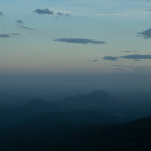 """Sunset from Little Adam's Peak"" stock image"