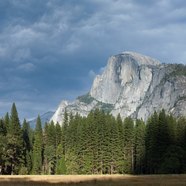 """Panoramic view of Yosemite Valley."" stock image"