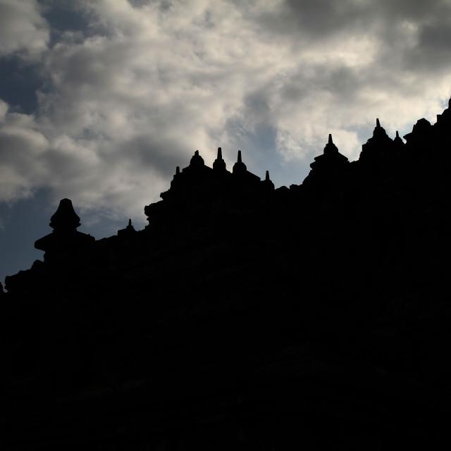 """Shadow of Borobudur"" stock image"