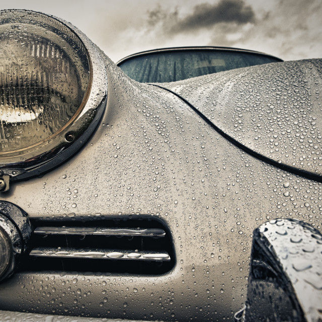 """Rain On Car."" stock image"
