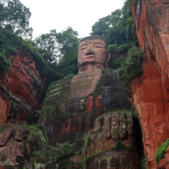 """""""Buddha at Le Shan"""" stock image"""