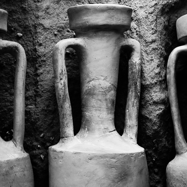 """Old pots"" stock image"