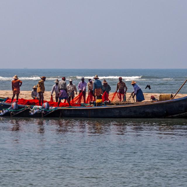 """fishermen from Kerala"" stock image"
